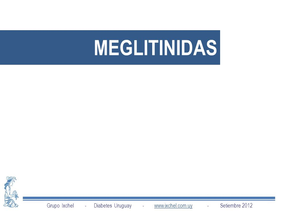 MEGLITINIDAS Grupo Ixchel - Diabetes Uruguay - www.ixchel.com.uy - Setiembre 2012.