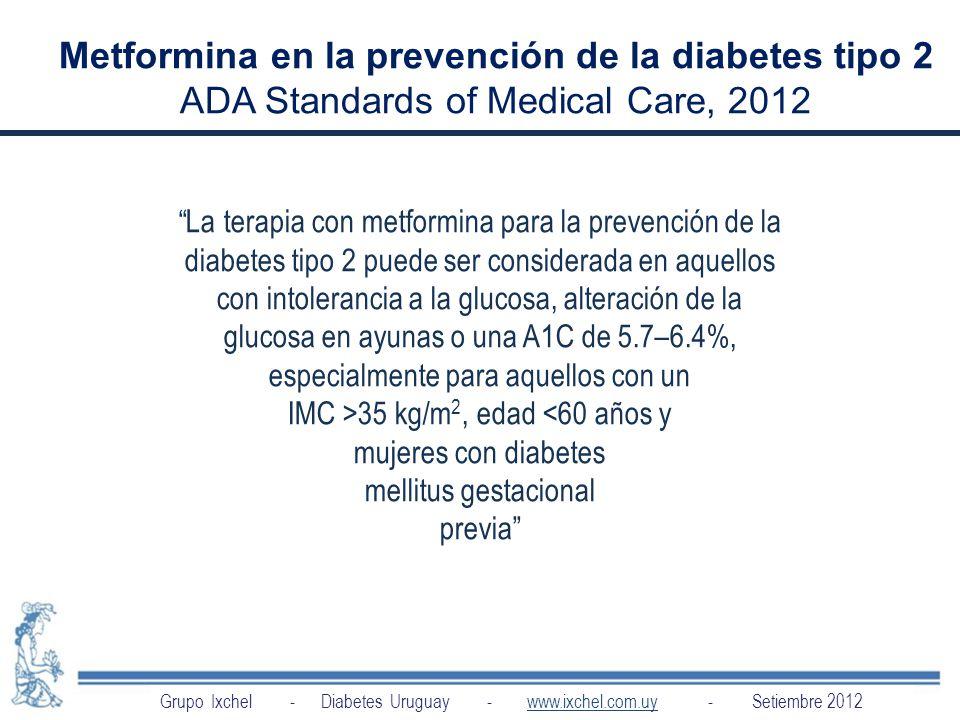 Metformina en la prevención de la diabetes tipo 2
