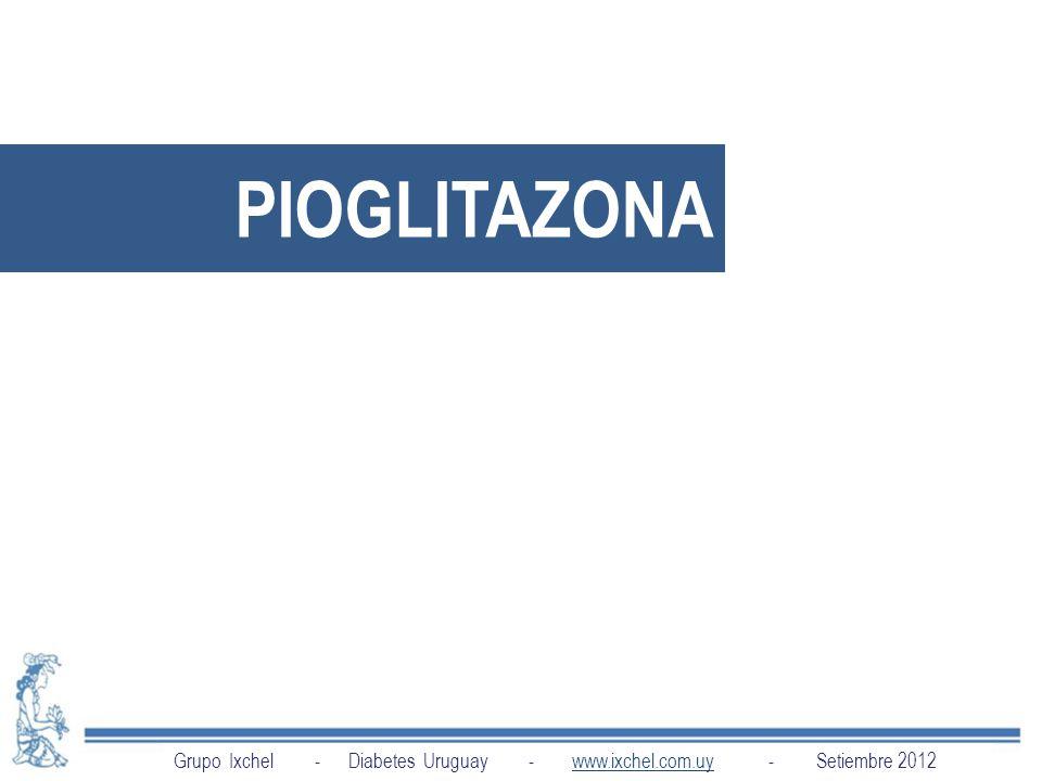 PIOGLITAZONA Grupo Ixchel - Diabetes Uruguay - www.ixchel.com.uy - Setiembre 2012.