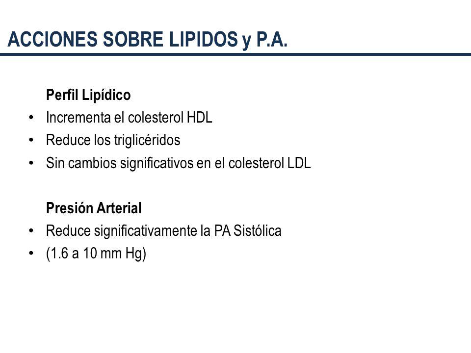 ACCIONES SOBRE LIPIDOS y P.A.