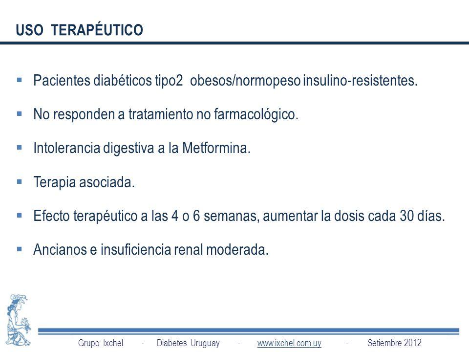 Pacientes diabéticos tipo2 obesos/normopeso insulino-resistentes.