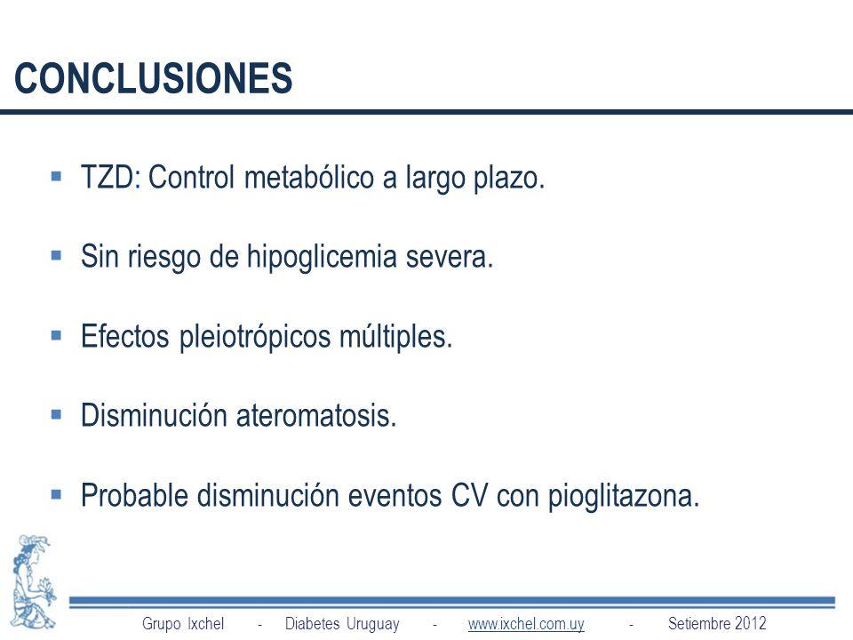 CONCLUSIONES TZD: Control metabólico a largo plazo.