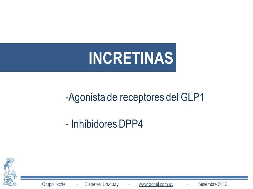 INCRETINAS Agonista de receptores del GLP1 Inhibidores DPP4