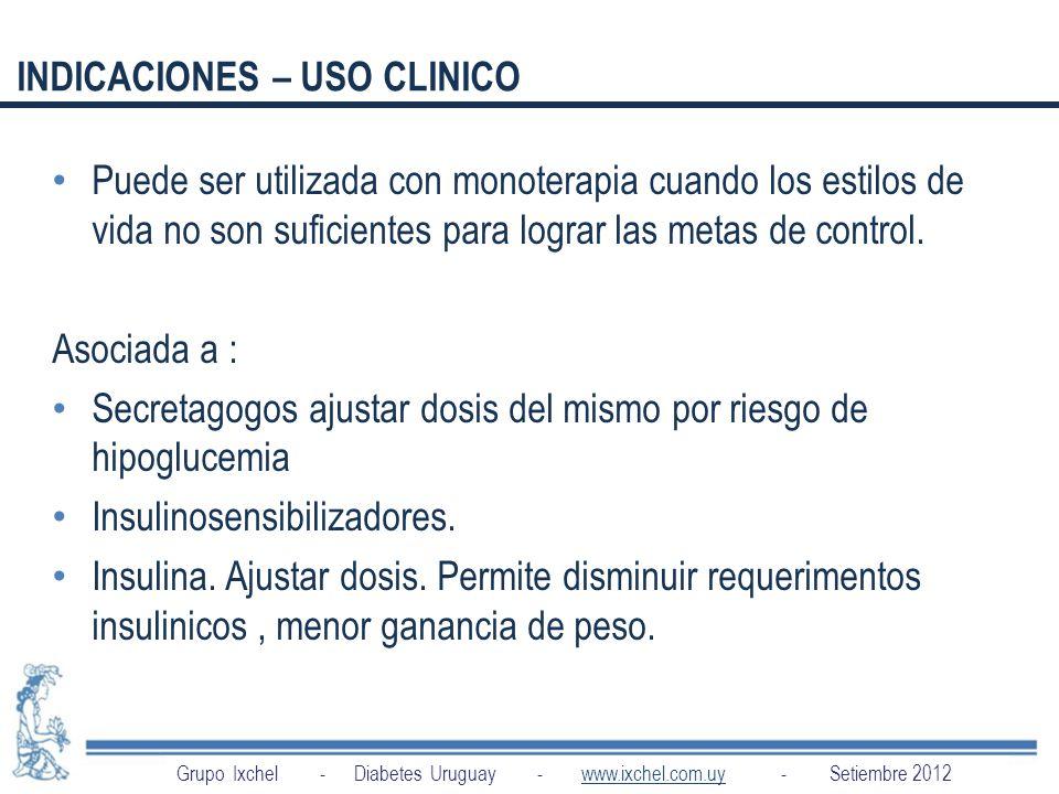 INDICACIONES – USO CLINICO