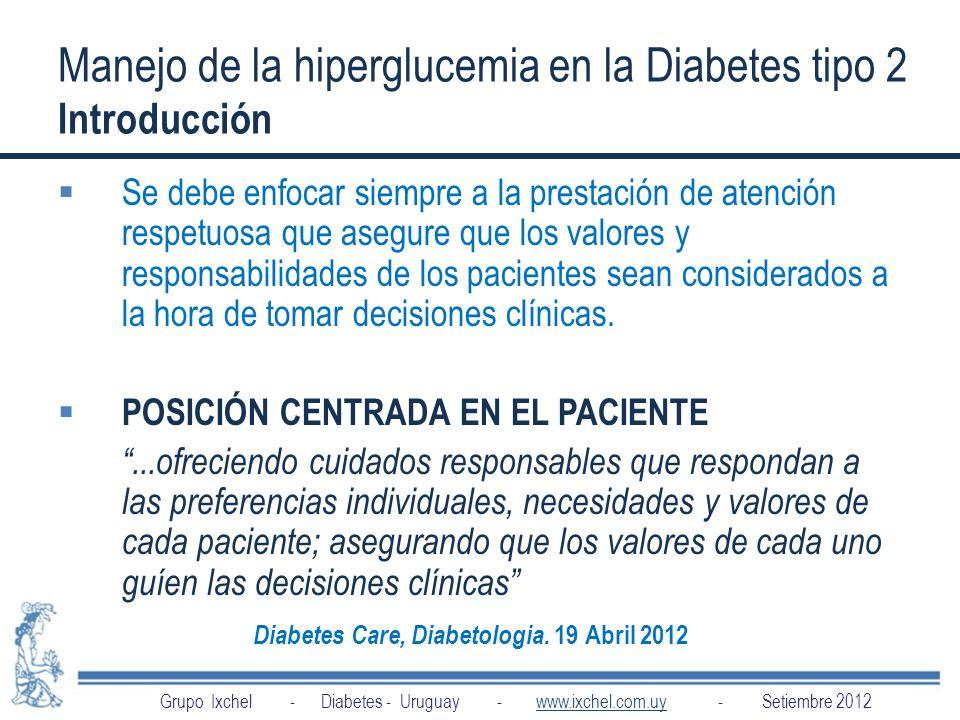 Manejo de la hiperglucemia en la Diabetes tipo 2 Introducción
