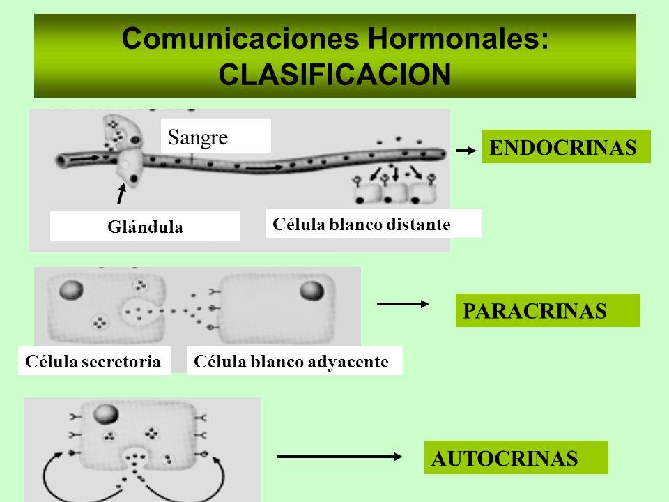 Comunicaciones Hormonales: CLASIFICACION