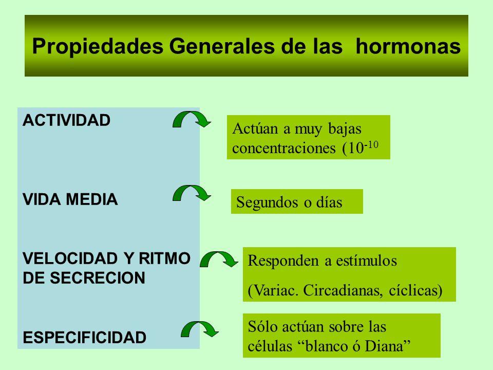 Propiedades Generales de las hormonas