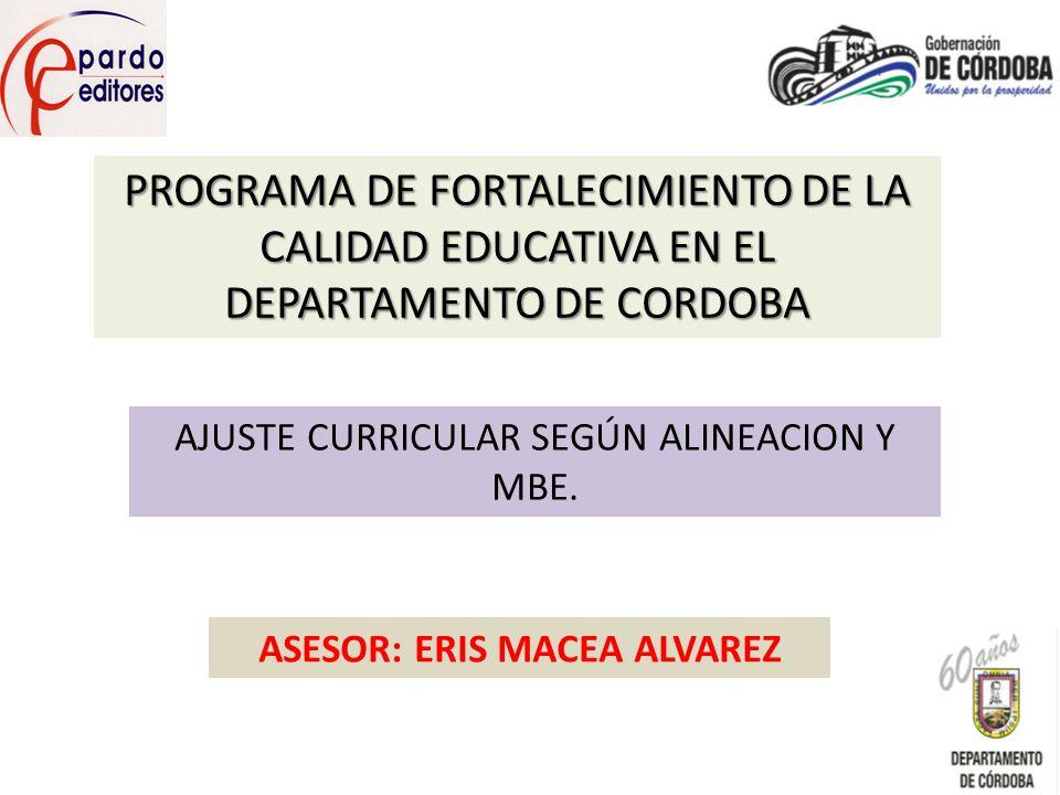 ASESOR: ERIS MACEA ALVAREZ