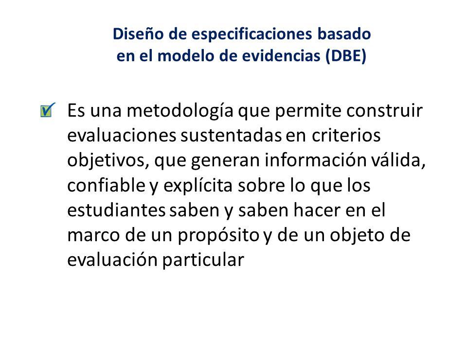 Diseño de especificaciones basado en el modelo de evidencias (DBE)