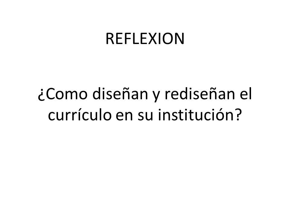 ¿Como diseñan y rediseñan el currículo en su institución