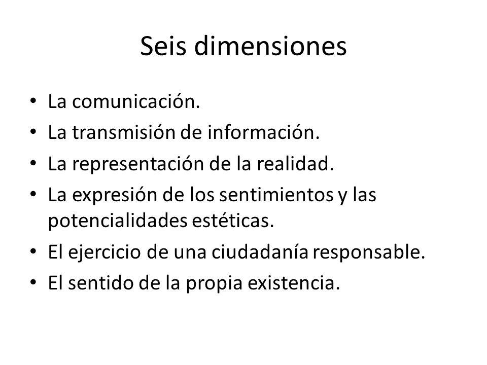 Seis dimensiones La comunicación. La transmisión de información.