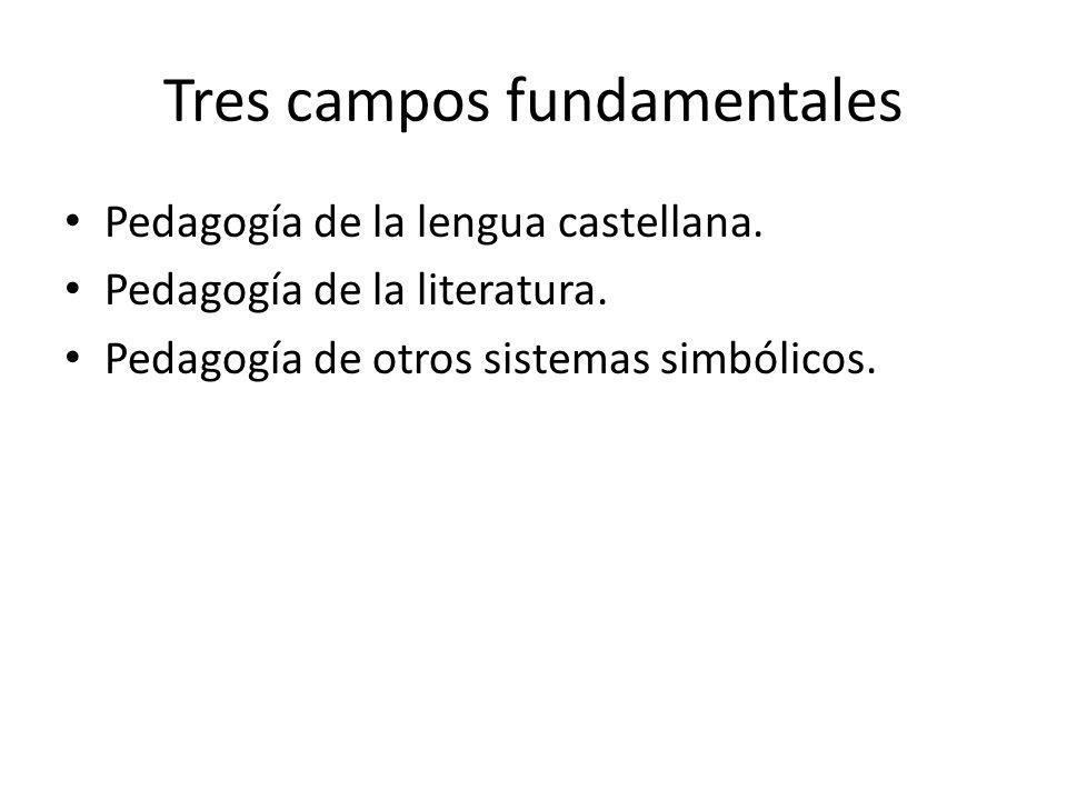 Tres campos fundamentales