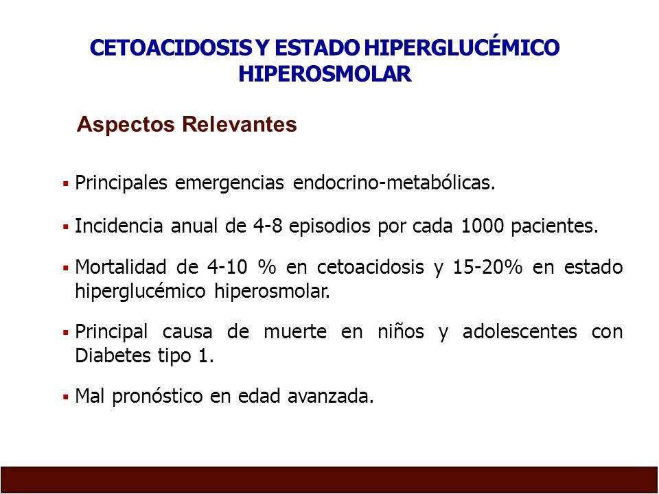CETOACIDOSIS Y ESTADO HIPERGLUCÉMICO HIPEROSMOLAR