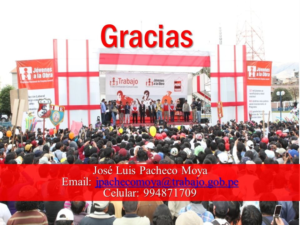 Gracias José Luis Pacheco Moya