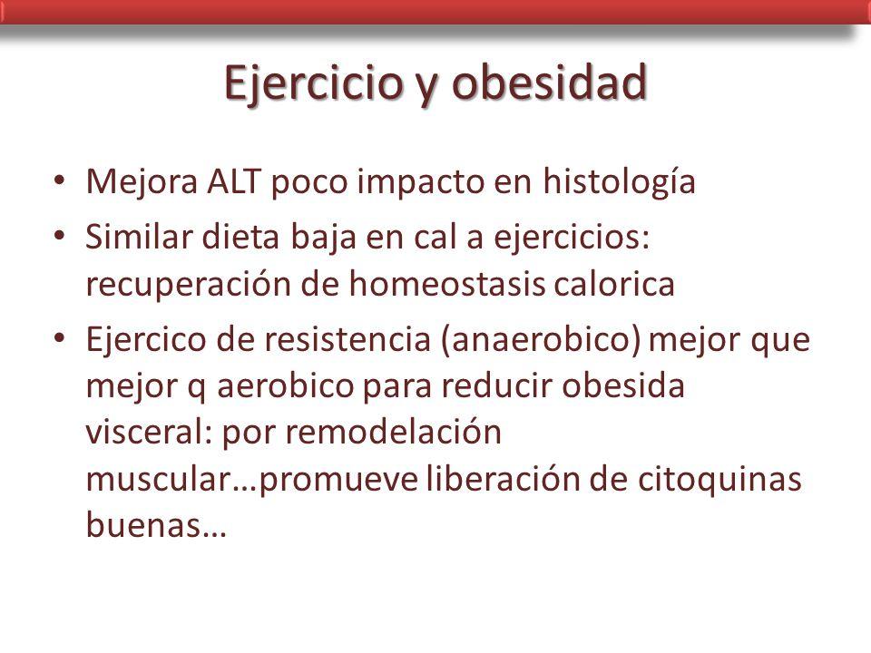 Ejercicio y obesidad Mejora ALT poco impacto en histología