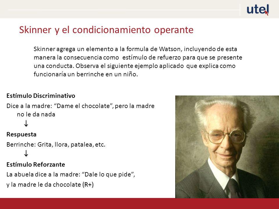 Skinner y el condicionamiento operante