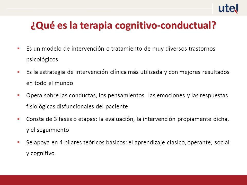 ¿Qué es la terapia cognitivo-conductual