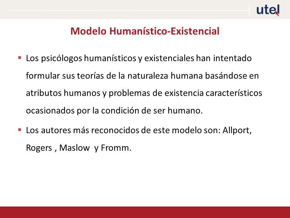 Modelo Humanístico-Existencial