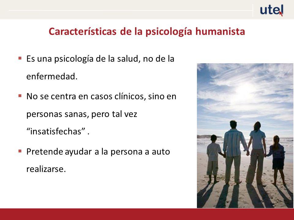 Características de la psicología humanista