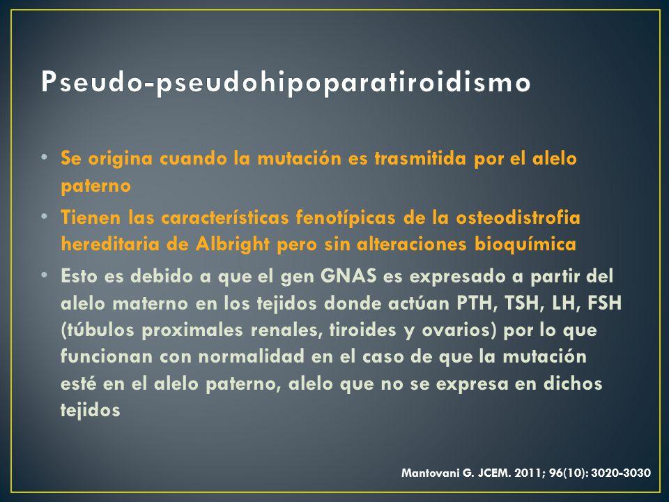 Pseudo-pseudohipoparatiroidismo