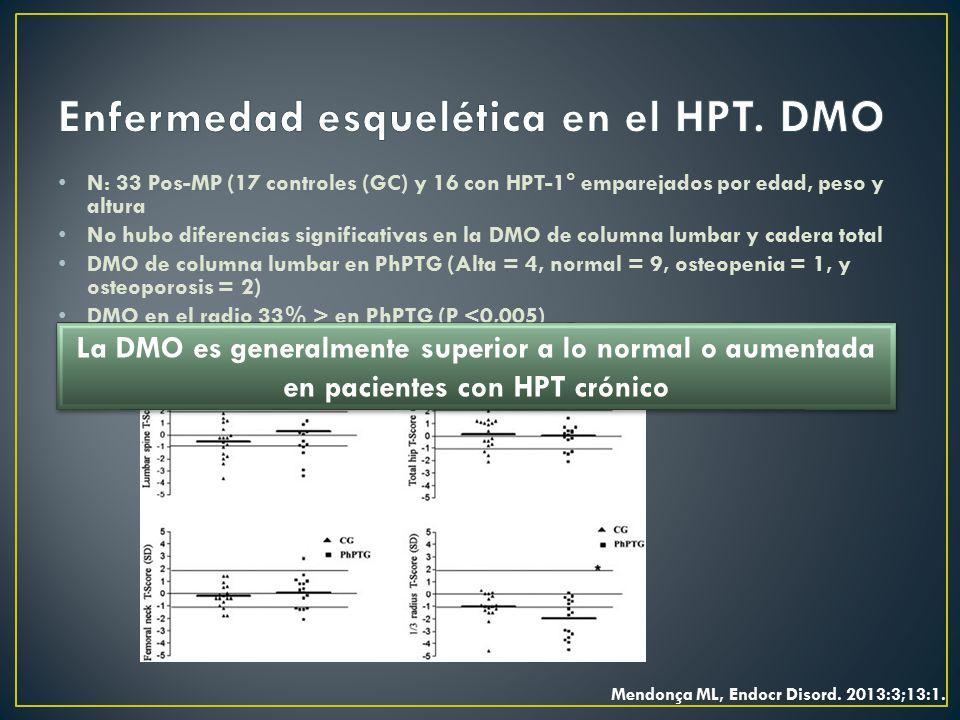 Enfermedad esquelética en el HPT. DMO