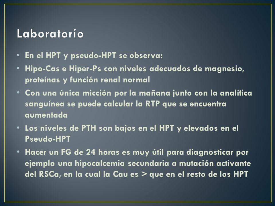 Laboratorio En el HPT y pseudo-HPT se observa:
