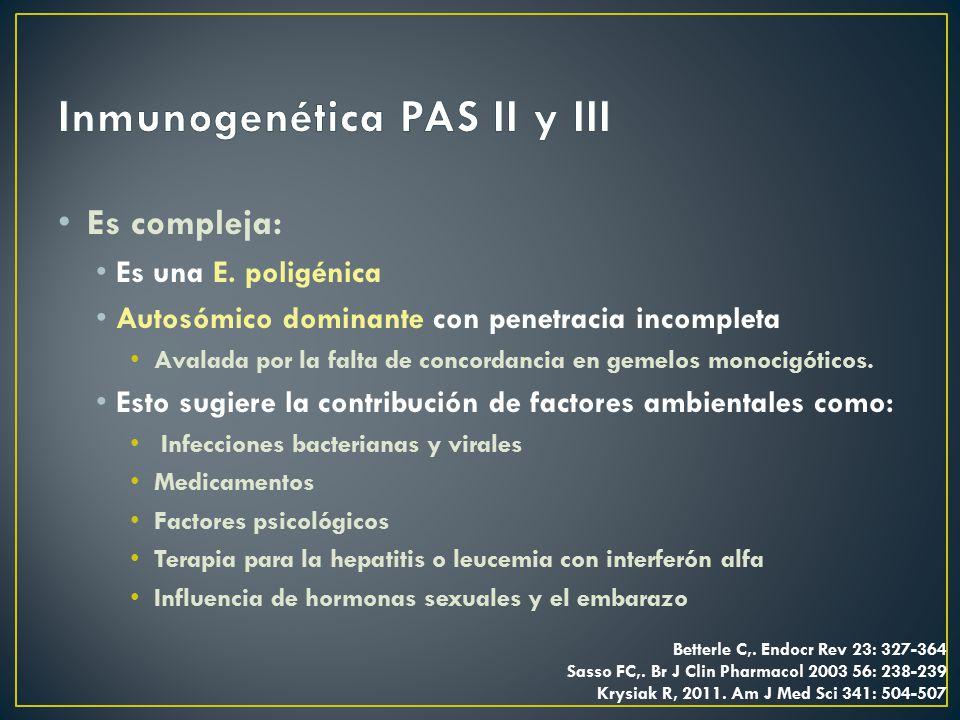 Inmunogenética PAS II y III