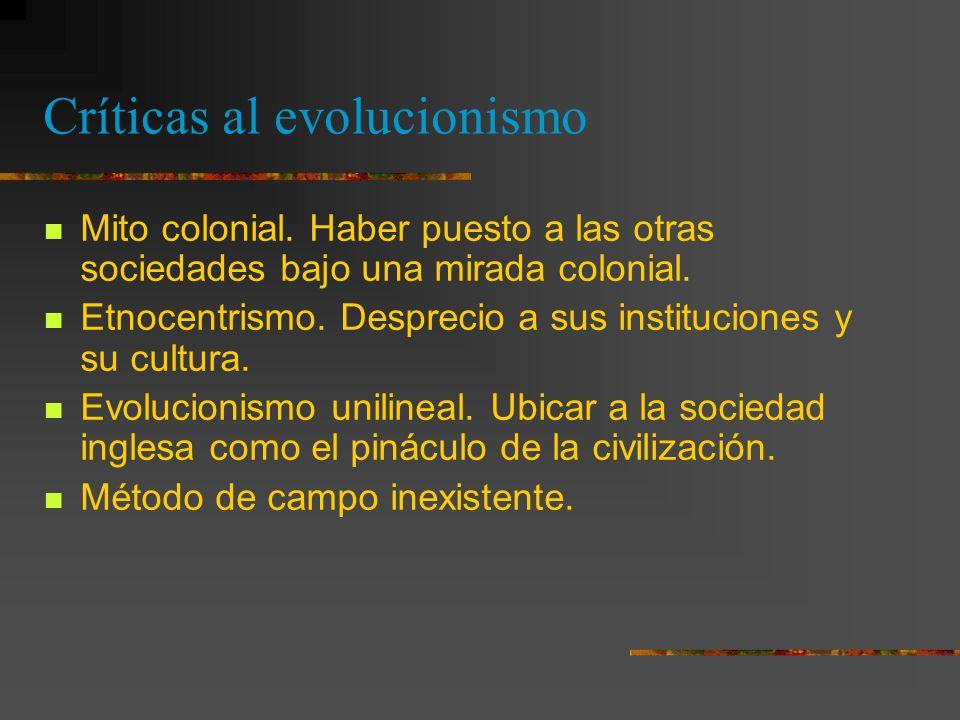Críticas al evolucionismo