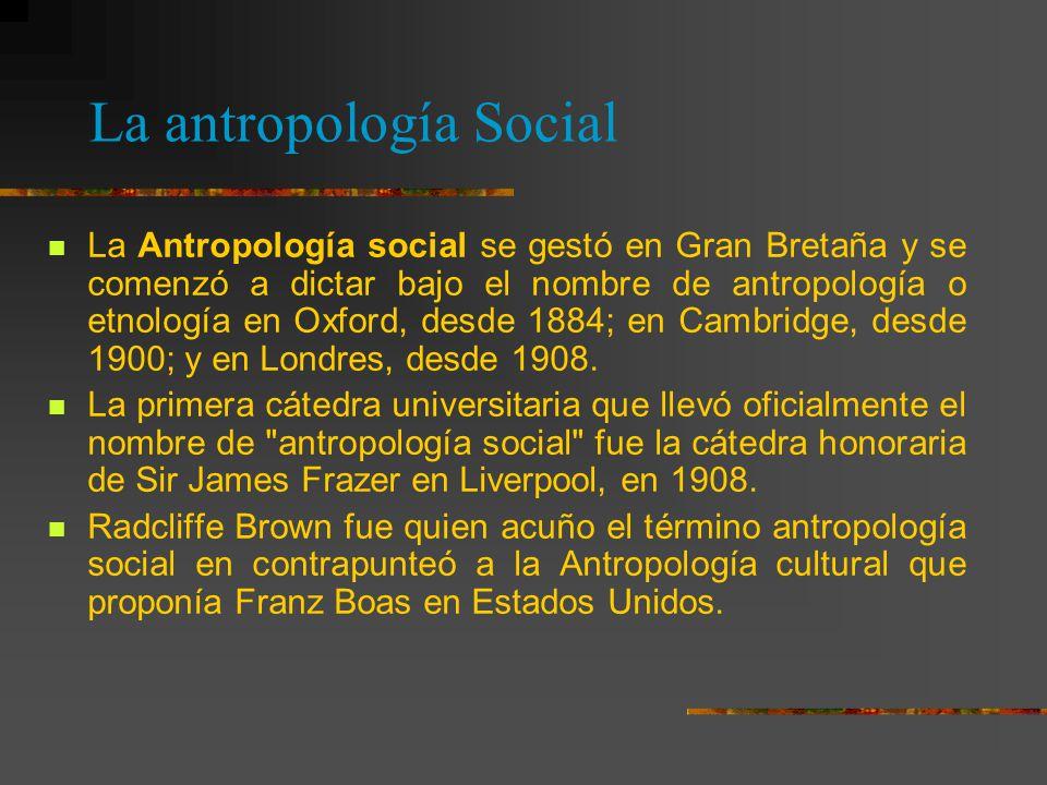 La antropología Social