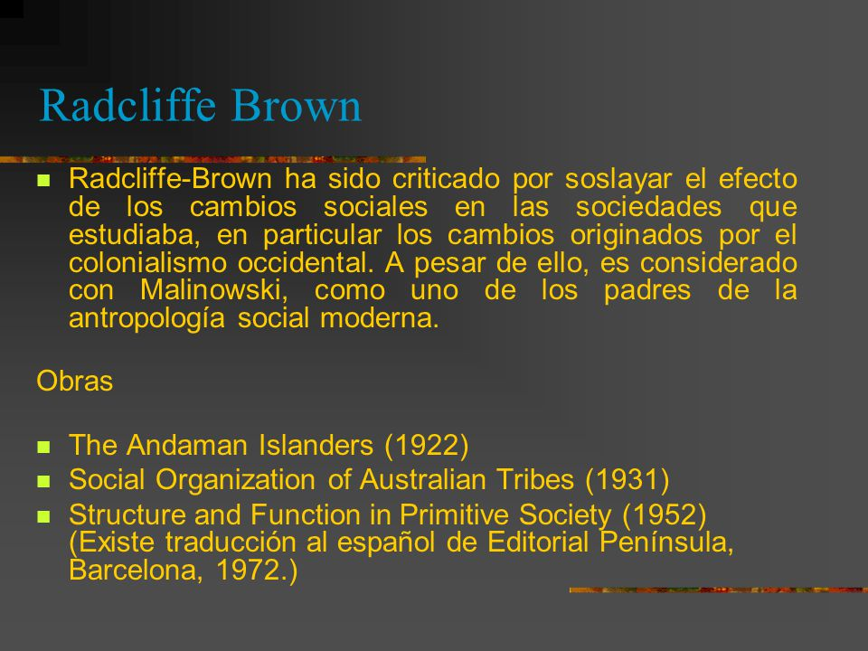 Radcliffe Brown