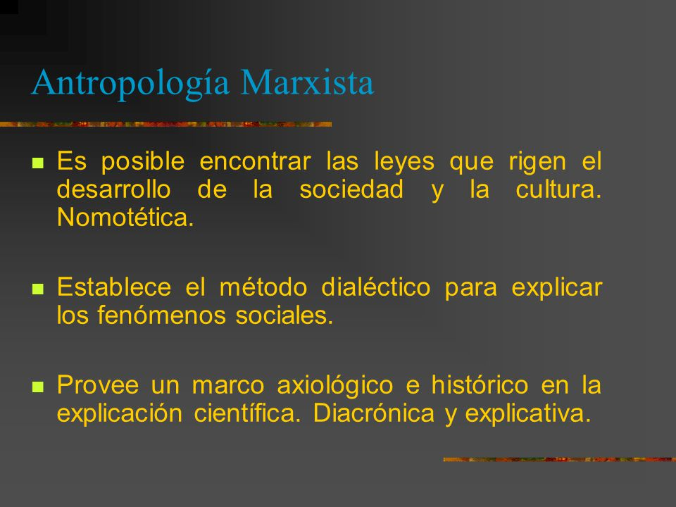 Antropología Marxista