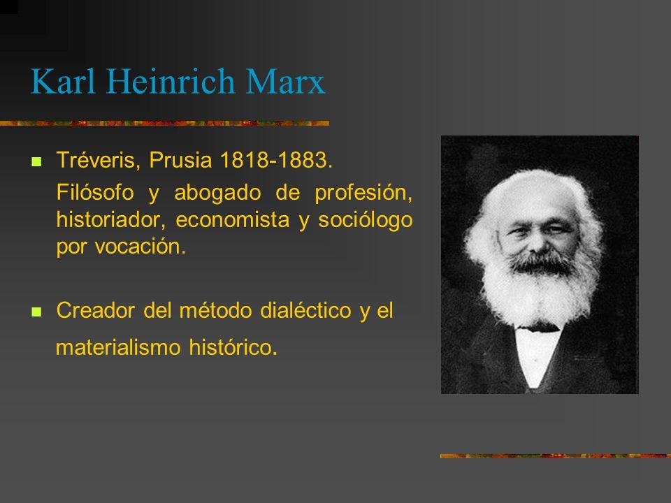 Karl Heinrich Marx Tréveris, Prusia 1818-1883.