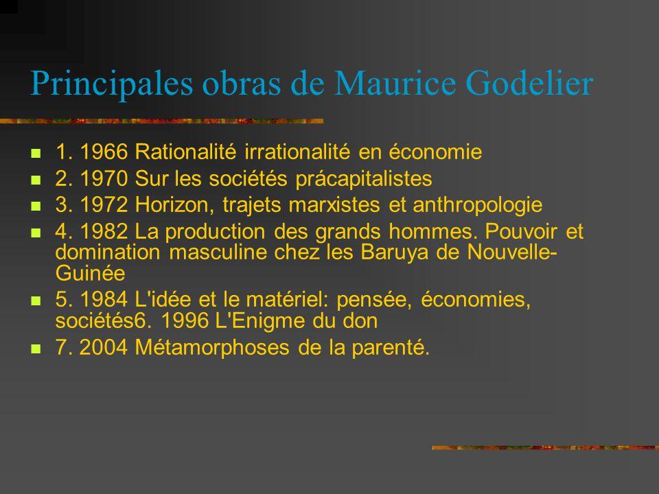 Principales obras de Maurice Godelier