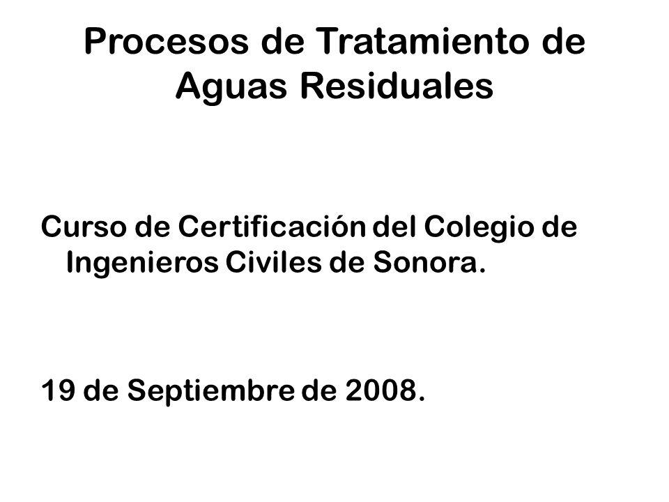 Procesos de Tratamiento de Aguas Residuales