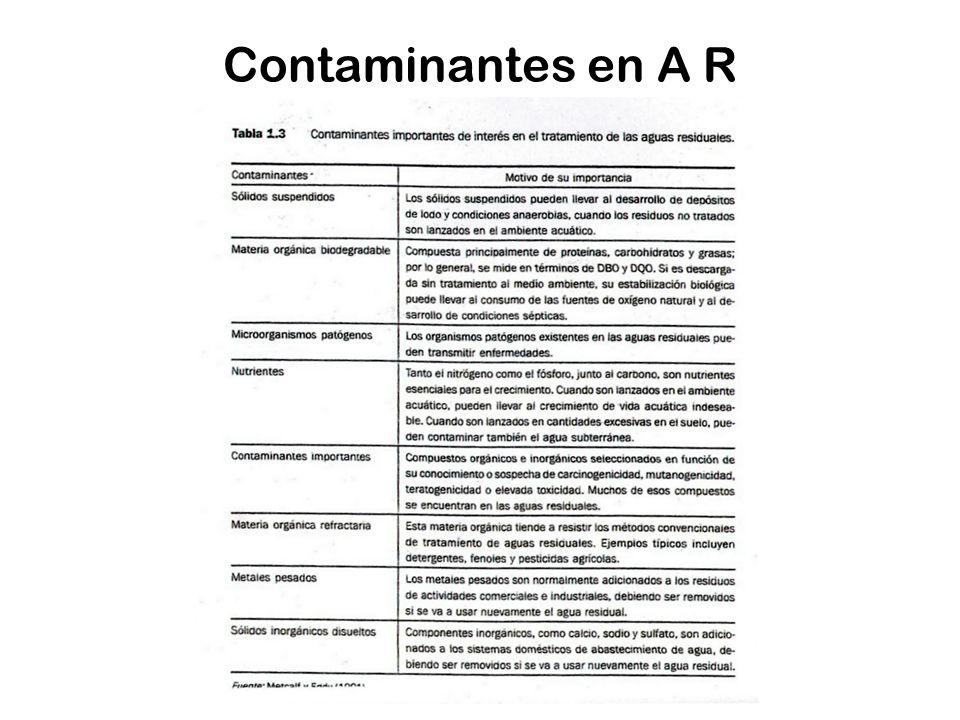Contaminantes en A R