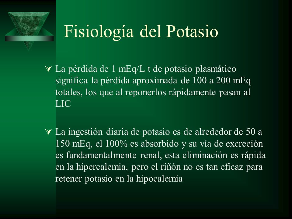 Fisiología del Potasio