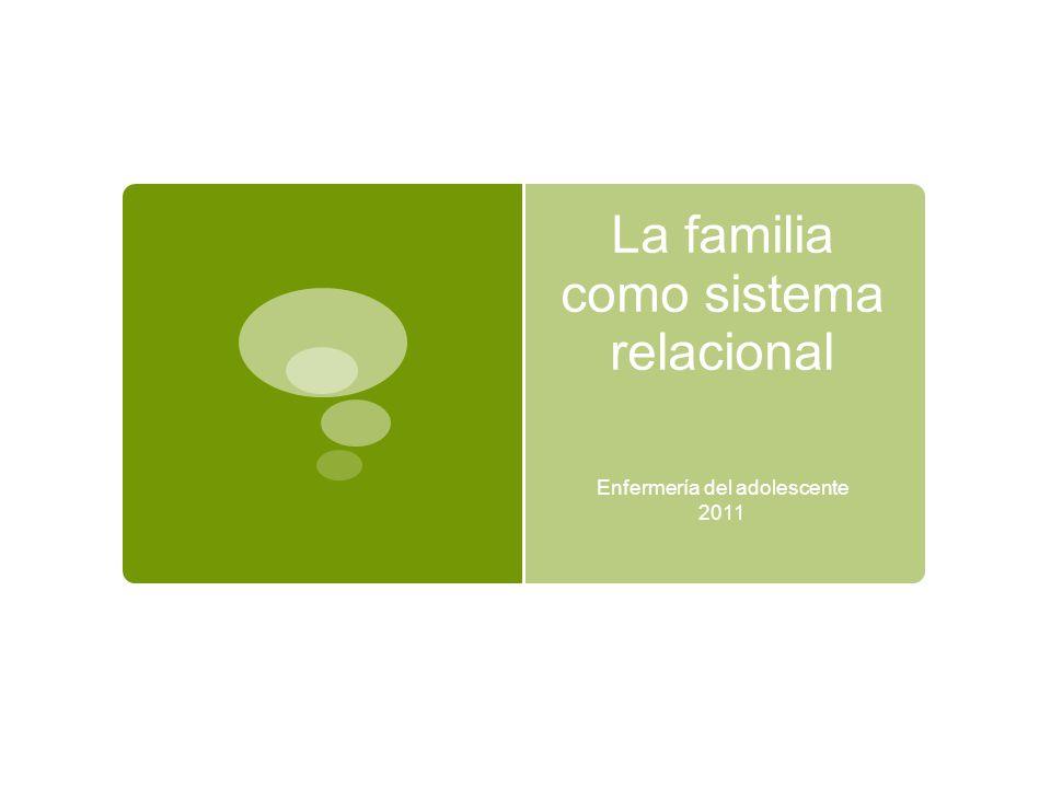 La familia como sistema relacional