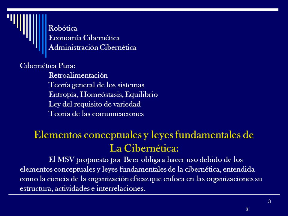 Elementos conceptuales y leyes fundamentales de
