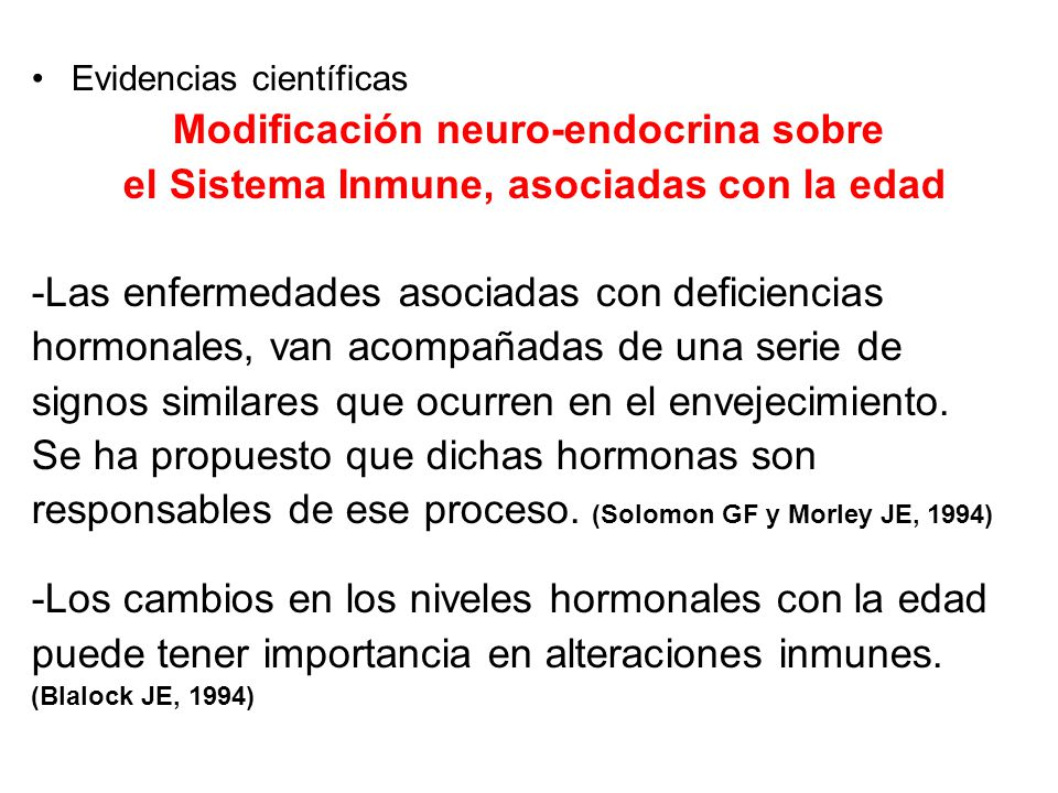 Modificación neuro-endocrina sobre