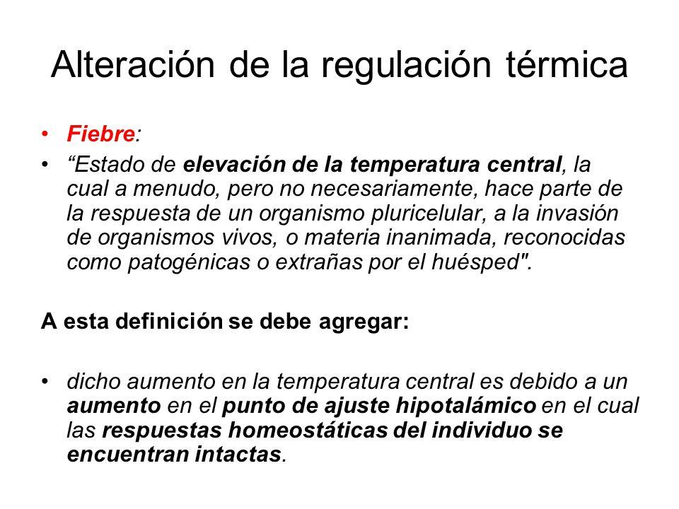 Alteración de la regulación térmica