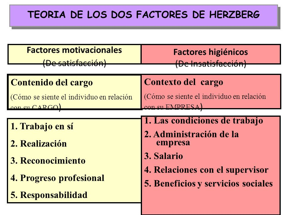 TEORIA DE LOS DOS FACTORES DE HERZBERG