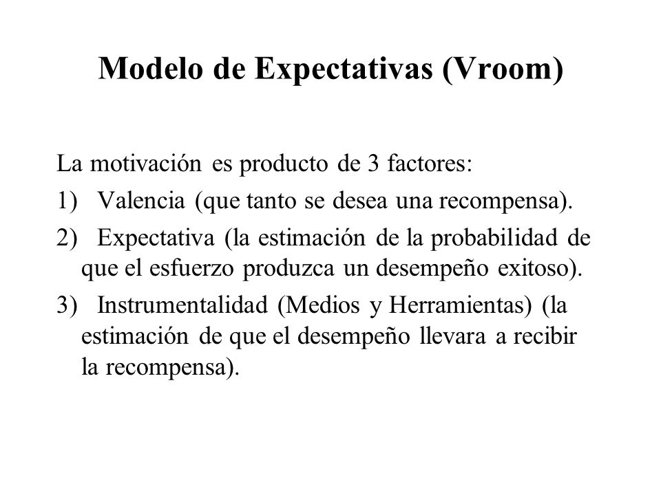 Modelo de Expectativas (Vroom)