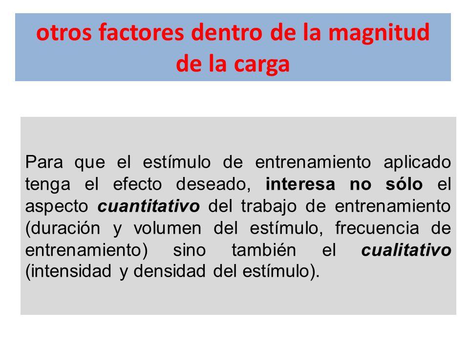 otros factores dentro de la magnitud de la carga