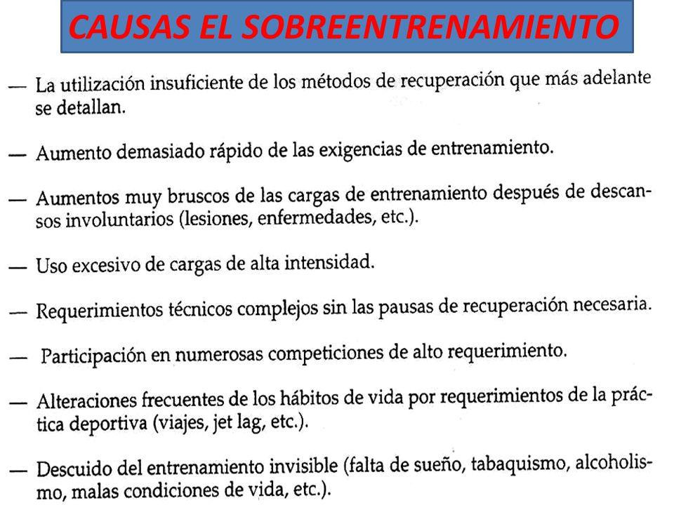 CAUSAS EL SOBREENTRENAMIENTO