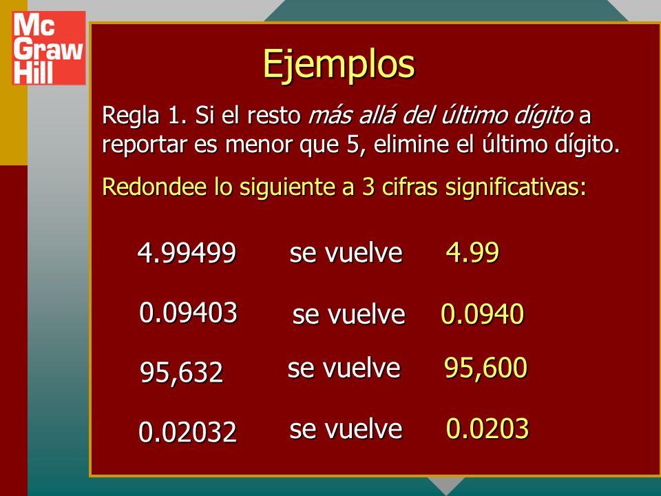 Ejemplos 4.99499 se vuelve 4.99 0.09403 se vuelve 0.0940