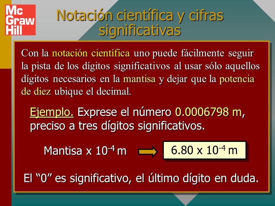 Notación científica y cifras significativas