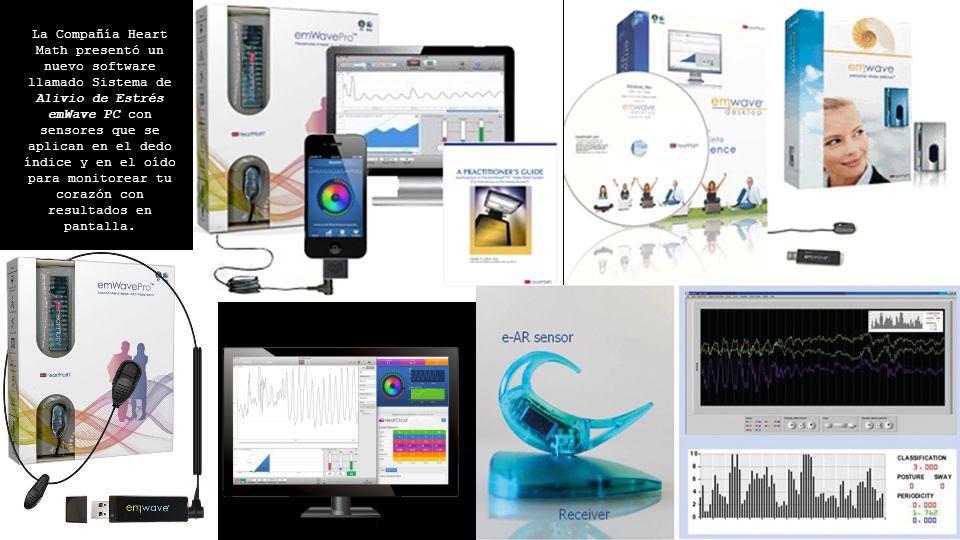 La Compañía Heart Math presentó un nuevo software llamado Sistema de Alivio de Estrés emWave PC con sensores que se aplican en el dedo índice y en el oído para monitorear tu corazón con resultados en pantalla.