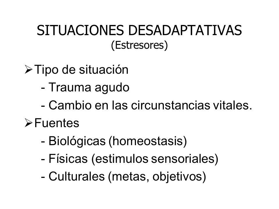 SITUACIONES DESADAPTATIVAS (Estresores)