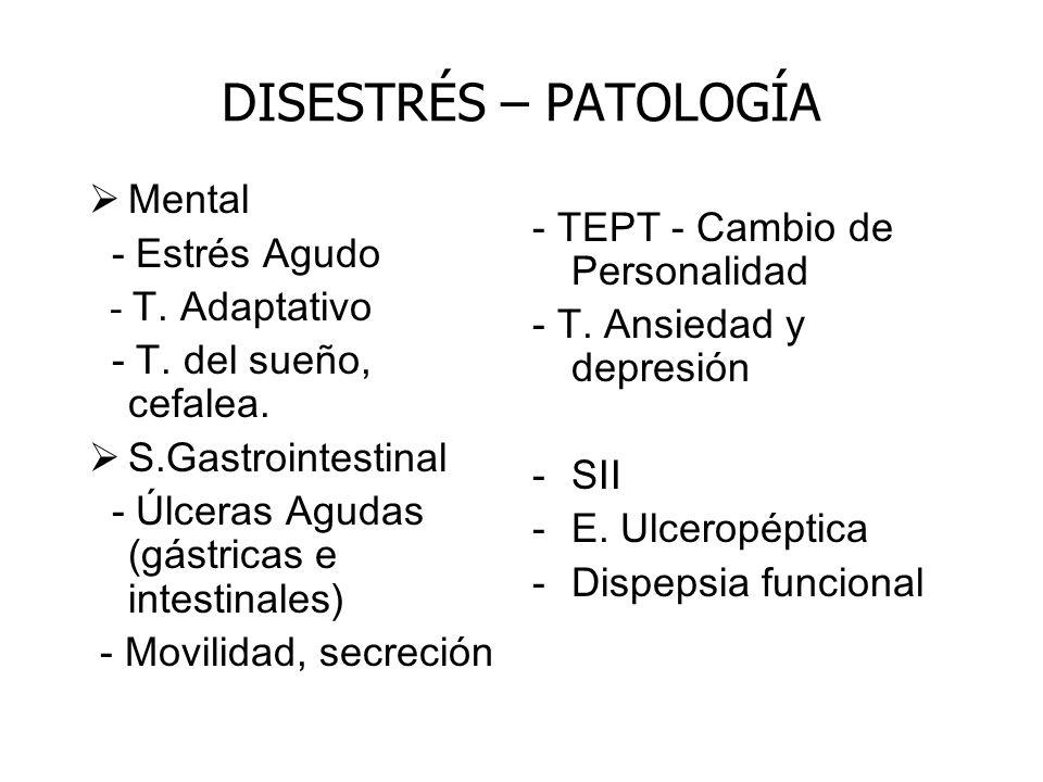 DISESTRÉS – PATOLOGÍA - TEPT - Cambio de Personalidad Mental