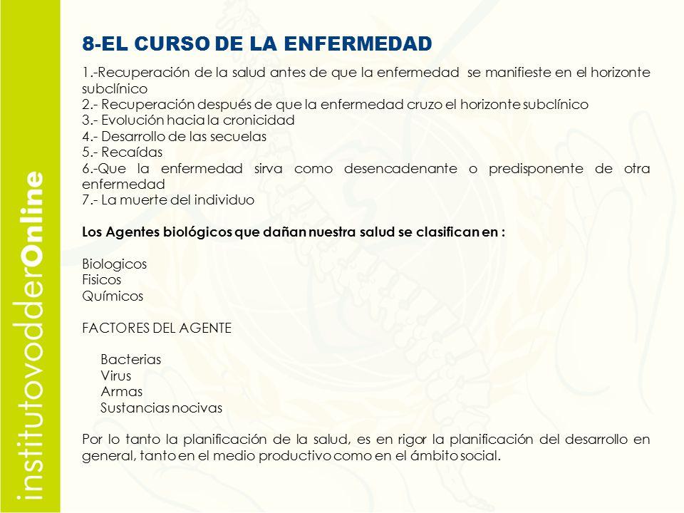 8-EL CURSO DE LA ENFERMEDAD